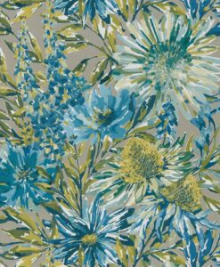 Floreale Wallpaper from the Standing Ovation Collection by Harlequin Wallpaper in Corn & Gilver
