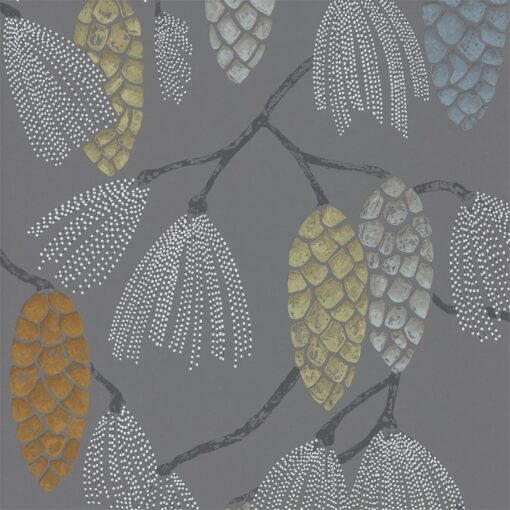Epitome Wallpaper from the Standing Ovation Collection by Harlequin Wallpaper in Mint, Duck Egg & Smoke