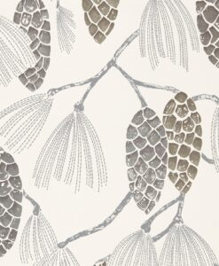 Epitome Wallpaper from the Standing Ovation Collection by Harlequin Wallpaper in Gilver, Silver & Chalk