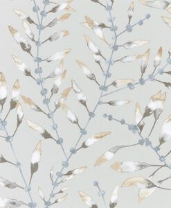 Chaconia Wallpaper from the Anthozoa Collection in Amber & Slate