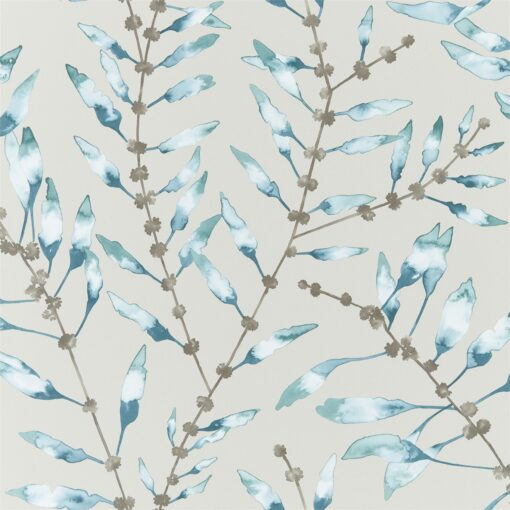Chaconia Wallpaper from the Anthozoa Collection in Marine & Emerald