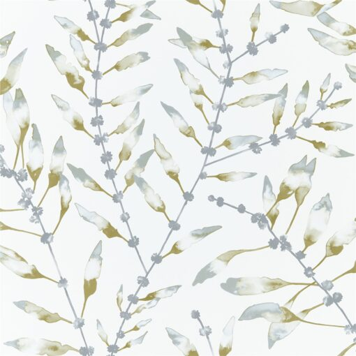 Chaconia Wallpaper from the Anthozoa Collection in Lagoon & Linden
