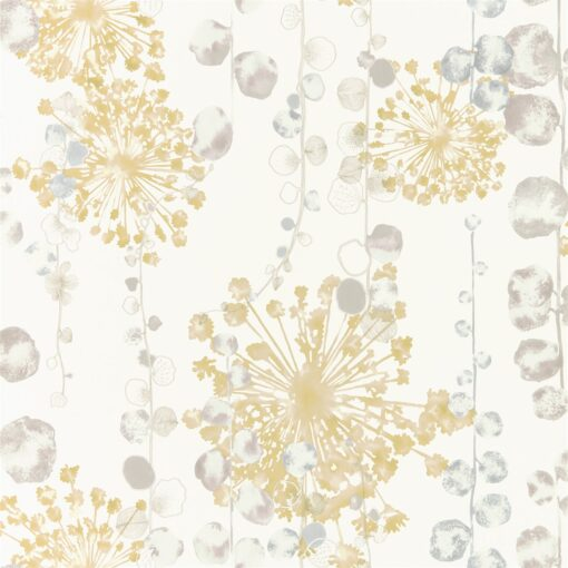 Moku Wallpaper from the Anthozoa Collection in Ochre & Seaspray