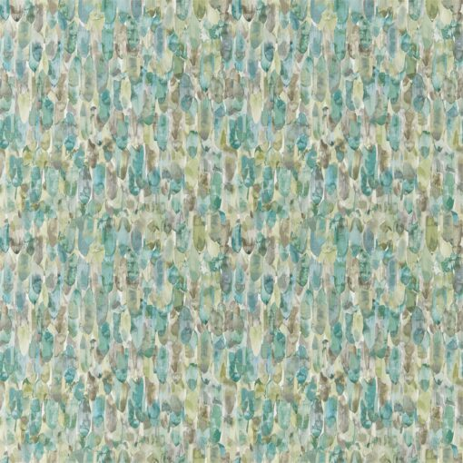 Kelambu Wallpaper from the Anthozoa Collection in Emerald & Lime