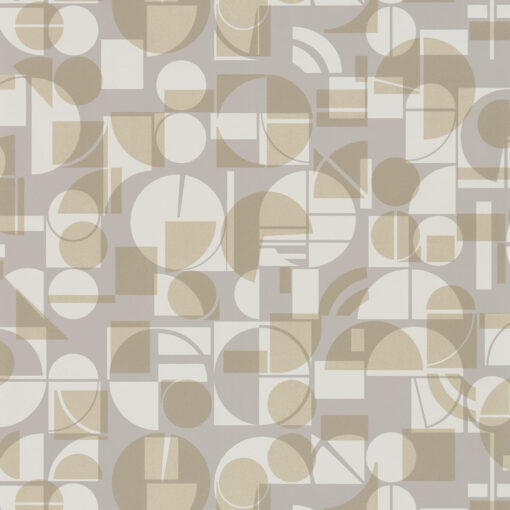 Segments wallpaper from the Entity Collection in Heather & Gold