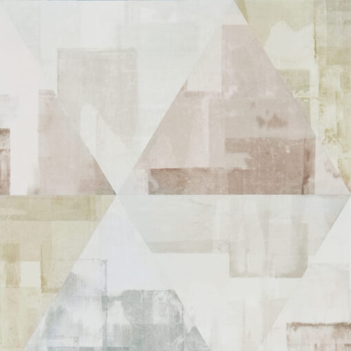 Geodesic Wallpaper from the Entity Collection in Blush & Taupe
