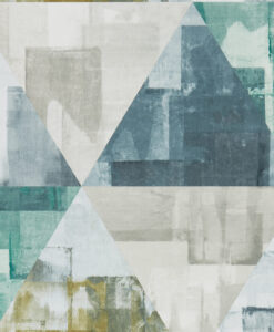 Geodesic Wallpaper from the Entity Collection in Emerald & Linden