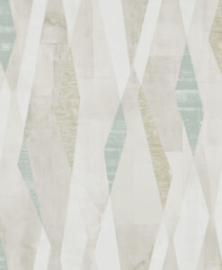 Vertices Wallpaper from the Entity Collection in Teal & Stone