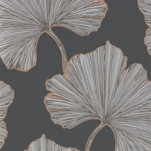 Azurea wallpaper from the Lucero Collection by Harlequin in Ebony & Rose Gold