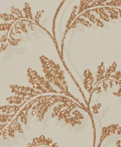Lucero Wallpaper from the Lucero Collection by Harlequin in Mink and Rose Gold