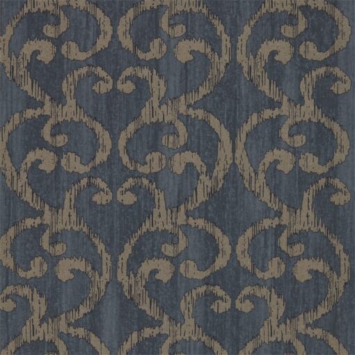 Baroc Wallpaper from the Lucero Collection by Harlequin in Ink
