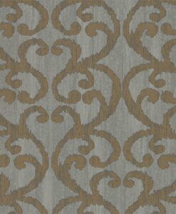 Baroc Wallpaper from the Lucero Collection by Harlequin in Pewter