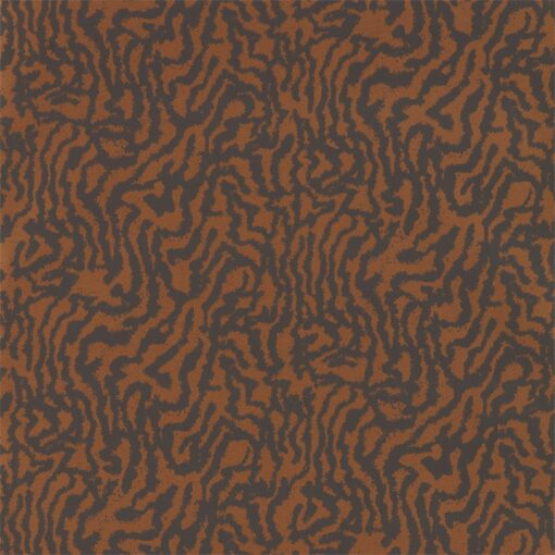 Seduire wallpaper from the Lucero Collection by Harlequin in Ebony and Copper