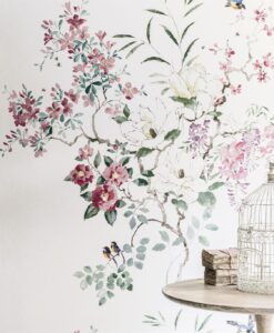 Magnolia & Blossom wallpaper from Waterperry Wallpapers by Sanderson Home