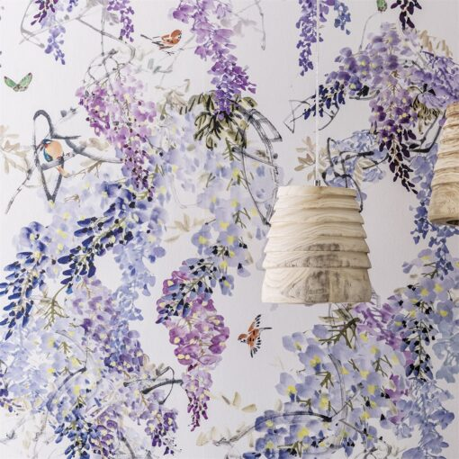 Wisteria Falls Wallpaper from Waterperry Wallpapers by Sanderson Home