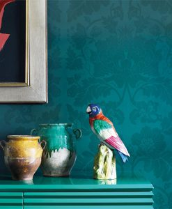 Close up of the Villandry Wallpaper from the Damask Wallpaper Collection by Zophany