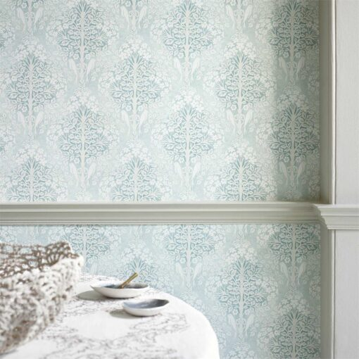 Lerena Wallpaper from the Chiswick Grove Collection by Sanderson