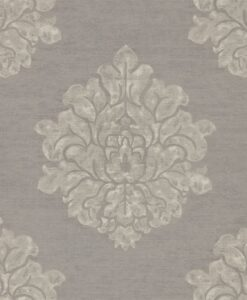 Laurie Wallpaper from Waterperry Wallpapers in Charcoal