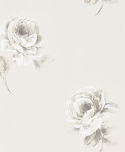 Rosa Wallpaper from Waterperry Wallpaper in Chalk