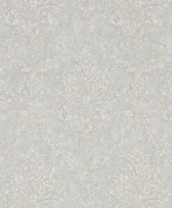 Riverside Damask Wallpaper from Waterperry Wallpapers in Dove & Silver