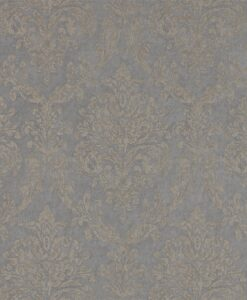 Riverside Damask Wallpaper from Waterperry Wallpapers in Mole & Copper