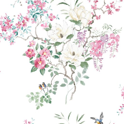Magnolia & Blossom wallpaper from Waterperry Wallpapers by Sanderson Home - Panel B