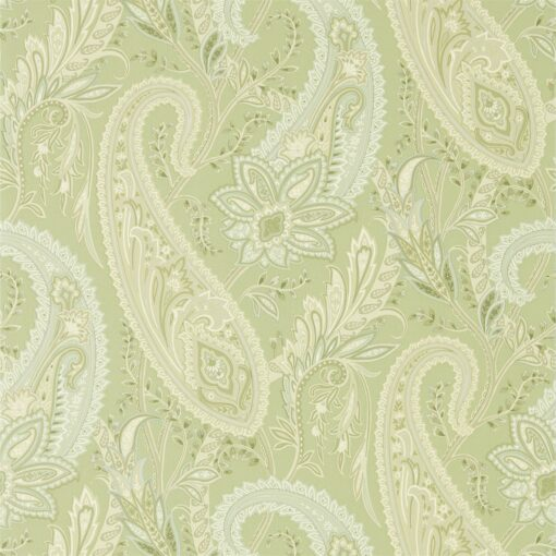 Cashmere Paisley Wallpaper from the Art of the Garden Collection in Garden Green