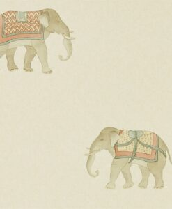 India Wallpaper from The Art of the Garden Collection in Russet & Sand