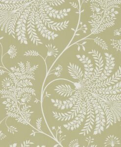 Mapperton Wallpaper from The Art of the Garden Collection in Garden Green & Cream
