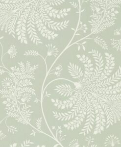 Mapperton Wallpaper from The Art of the Garden Collection in Sage & Cream