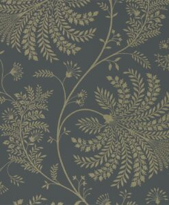 Mapperton Wallpaper from The Art of the Garden Collection in Graphite & Silver