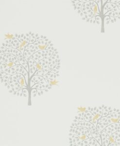 Bay Tree Wallpaper from The Potting Room Collection in Dijon & Mole