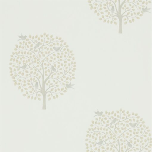 Bay Tree Wallpaper from The Potting Room Collection in Linen & Dove