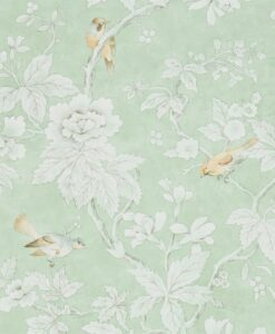 Chiswick Grove wallpaper by Sanderson Home in Sage