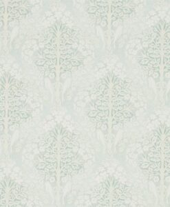Lerena Wallpaper from the Chiswick Grove Collection by Sanderson Home in Wedgewood