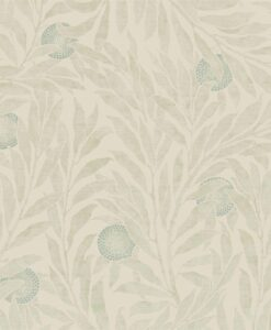 Orange Tree Wallpaper from the Chiswick Grove Collection by Sanderson Home in Willow