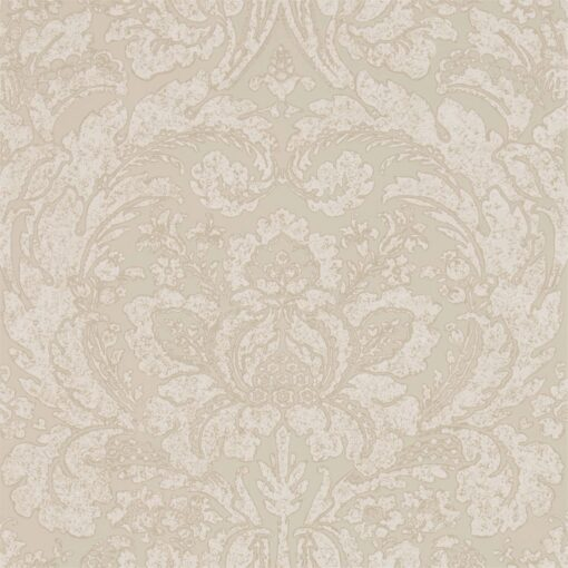 Courtney Wallpaper from the Chiswick Grove Collection by Sanderson Home in Stone