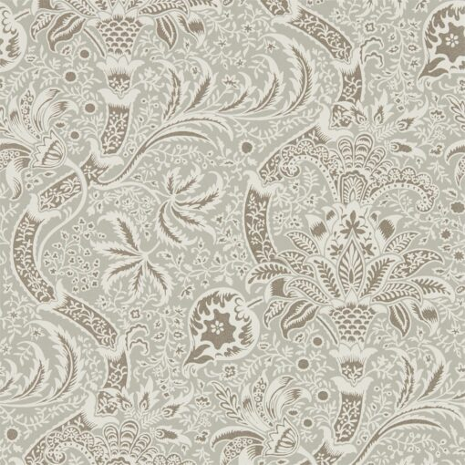 Indian Wallpaper from the Archives IV Collection by Morris & Co. in Grey & Pewter