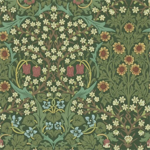 Blackthorn Wallpaper from the Craftsman Wallpapers by Morris & Co