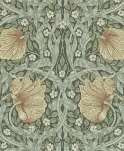 Pimpernel Wallpaper by Morris & Co in Bayleaf & Manilla