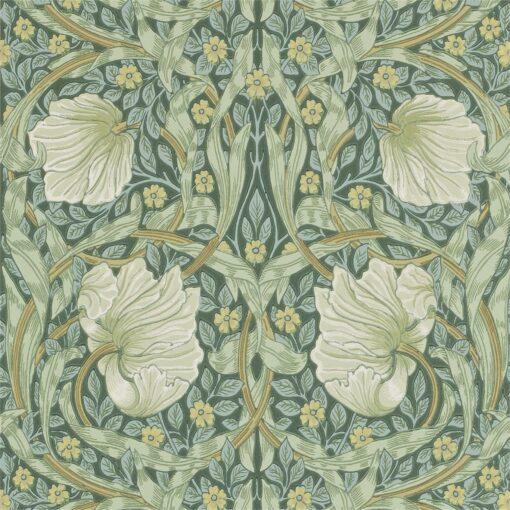 Pimpernel Wallpaper by Morris & Co in Privet & Slate