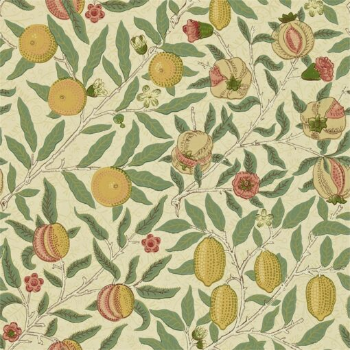 216459 Fruit Wallpaper from the Craftsman Wallpapers by Morris & Co. in Beige Coral and Gold
