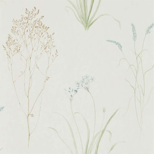 Farne Grasses Wallpaper by Sanderson Home in Cream & Sage