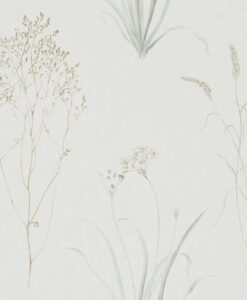 Farne Grasses Wallpaper by Sanderson Home in Silver & Ivory