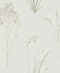 Farne Grasses Wallpaper by Sanderson Home in Willow & Pebble