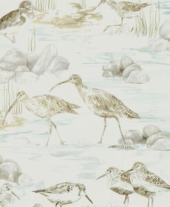 Estuary Birds from the Embleton Bay Collection in Chalk Mist and Ivory