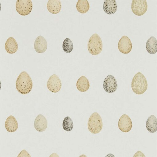 Nest Egg Wallpaper in Corn & Graphite
