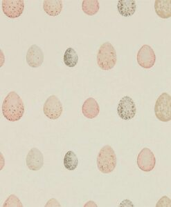 Nest Egg Wallpaper in Blush & Pink