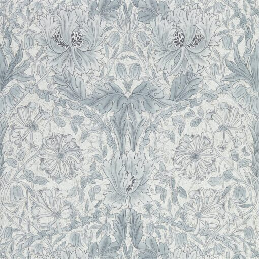 Pure Honeysuckle & Tulip wallpaper by Morris & Co in Cloud Grey