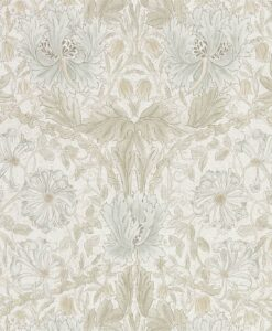 Pure Honeysuckle & Tulip wallpaper by Morris & Co in Linen